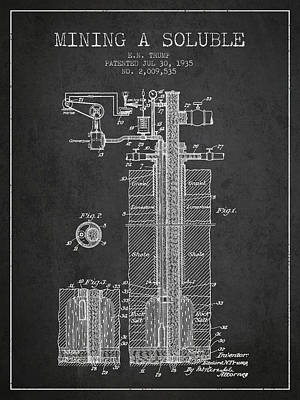 1935 Mining A Soluble Patent En39_cg Poster by Aged Pixel