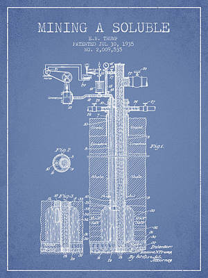 1935 Mining A Soluble Patent En39_lb Poster by Aged Pixel