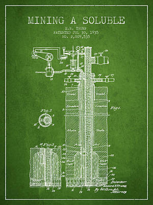 1935 Mining A Soluble Patent En39_pg Poster by Aged Pixel