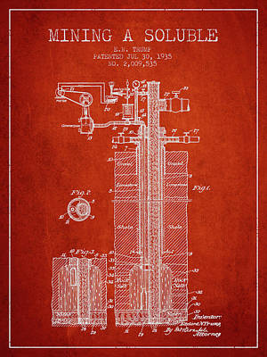 1935 Mining A Soluble Patent En39_vr Poster by Aged Pixel