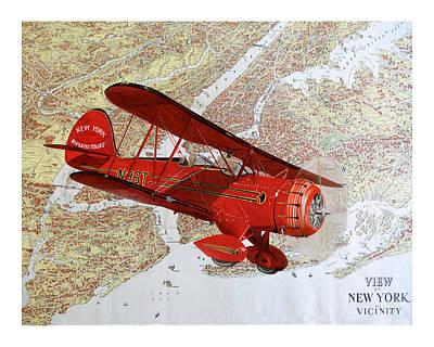 1935 Sightseeing Waco Bi Plane  Poster by Jack Pumphrey