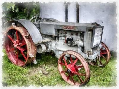 1935 Vintage Case Tractor Poster