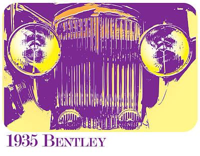 1935 Bentley Poster by Greg Joens