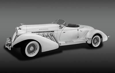 Poster featuring the photograph 1936 Auburn Supercharged Speedster Convertible  -  1936auburnsupcgdspeedfa170552 by Frank J Benz