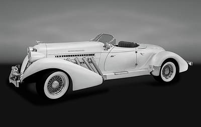 Poster featuring the photograph 1936 Auburn Supercharged Speedster Convertible  -  1936auburnsuperchargedgry170552 by Frank J Benz
