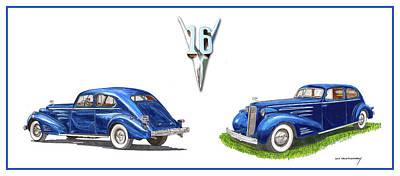 1936 Cadillac Aerodynamic Coupe Poster by Jack Pumphrey