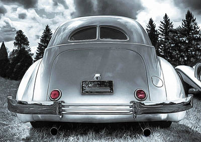 1936 Cord Automobile Rear View Poster by Thom Zehrfeld