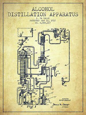1937 Alcohol Distillation Apparatus Patent Fb79_vn Poster
