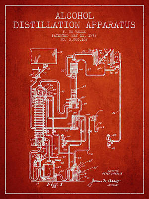1937 Alcohol Distillation Apparatus Patent Fb79_vr Poster