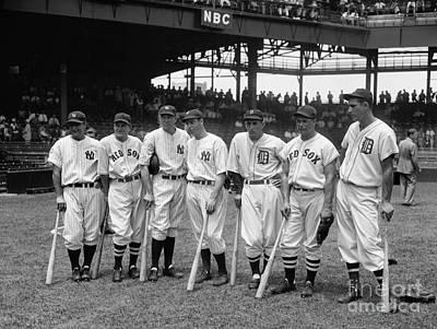 1937 All Star Baseball Players Poster by Jon Neidert