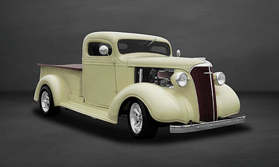1937 Chevrolet Pickup Truck  -  47chputkdsat504 Poster by Frank J Benz