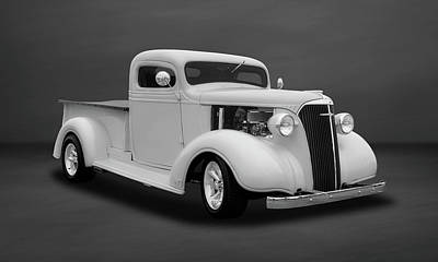1937 Chevrolet Pickup Truck  -  Chputkbw504 Poster by Frank J Benz