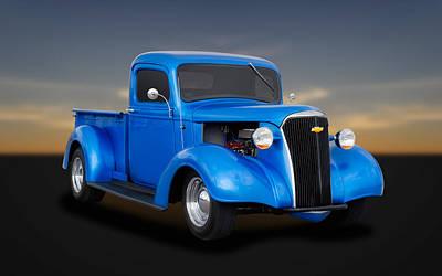 1937 Chevrolet Pickup Truck  -  Chtk11 Poster