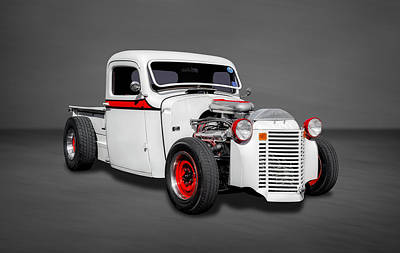 1937 Chevrolet Pickup Truck In White Poster by Frank J Benz