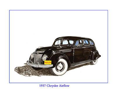 1937 Chrysler Airflow  Poster by Jack Pumphrey