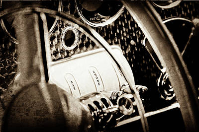 1937 Cord 812 Phaeton Steering Wheel Controls -1719s Poster by Jill Reger