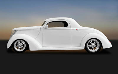 Poster featuring the photograph 1937 Ford Coupe  -  1937fordcoupe172185 by Frank J Benz