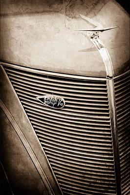 1937 Lincoln-zephyr Coupe Sedan Grille Emblem - Hood Ornament -0100s Poster by Jill Reger