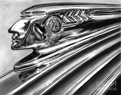 1937 Pontiac Chieftain Abstract Poster by Peter Piatt