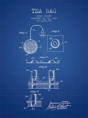 1937 Tea Bag Patent - Blueprint Poster