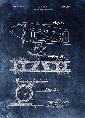 1938 Airplane Door Patent Poster