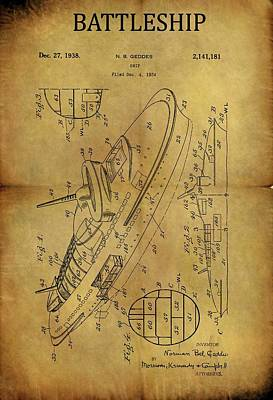 1938 Battleship Patent Poster