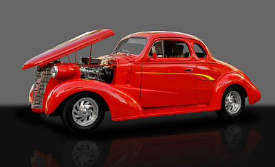 1938 Chevy 5 Window Coupe Poster by Frank J Benz