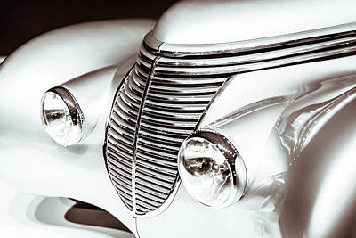 1938 Hispano-suiza H6b Xenia Front Poster