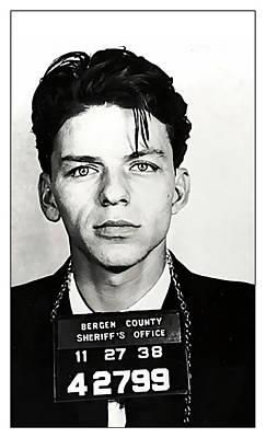 1938 Young Frank Sinatra Mugshot Poster