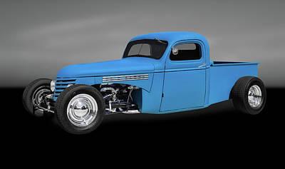 1939 Chevrolet Custom Pickup Truck  -  39chevypickupgry0116 Poster by Frank J Benz