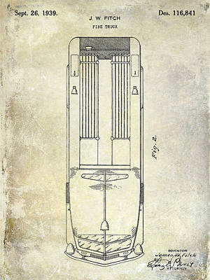1939 Fire Truck Patent Poster