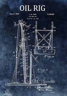 1939 Oil Rig Design Poster