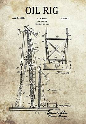 1939 Oil Rig Patent Poster