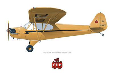 1939 Piper J3 Cub Poster