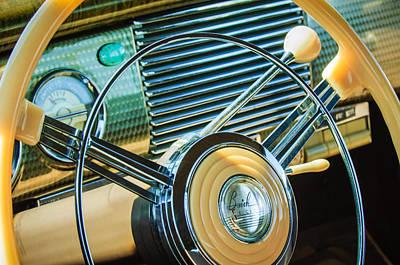 1940 Buick Eight Roadmaster Steering Wheel -389c Poster by Jill Reger