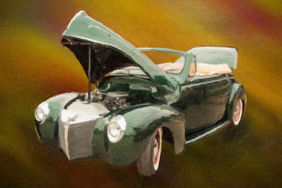 1940 Mercury Convertible Vintage Classic Car Painting 5234.03 Poster by M K  Miller
