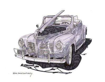 1940 Plymouth P 1 Convertible Poster by Jack Pumphrey