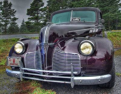 1940 Pontiac Coupe In The Rain Poster by Thom Zehrfeld