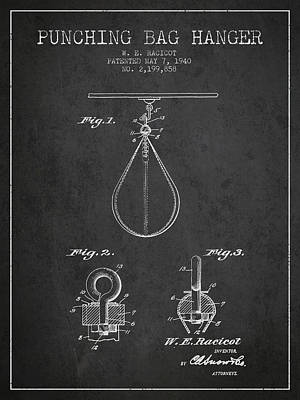 1940 Punching Bag Hanger Patent Spbx13_cg Poster by Aged Pixel