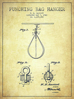 1940 Punching Bag Hanger Patent Spbx13_vn Poster by Aged Pixel