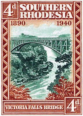 1940 Southern Rhodesia Victoria Falls Bridge  Poster