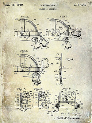 1940 Welders Goggles Patent Poster