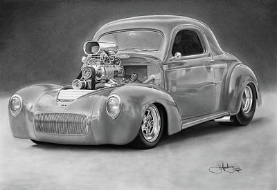 1940 Willy's Coupe Poster