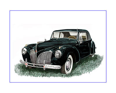 1941 Lincoln Continental Mk 1 Poster by Jack Pumphrey