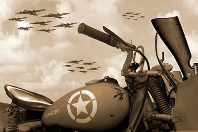 1942 Indian 841 - B-17 Flying Fortress - H Poster by Mike McGlothlen