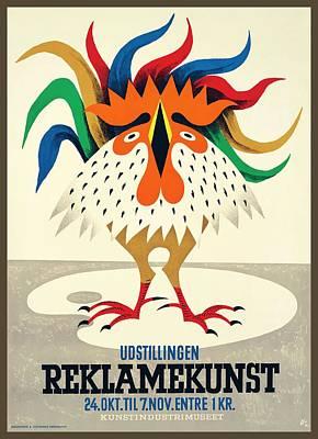 1945 Denmark Reklamekunst Advertising Poster Poster