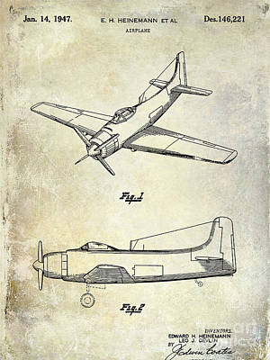 1947 Airplane Patent Poster by Jon Neidert
