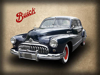 1947 Buick 8 Poster by Daniel Hagerman