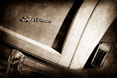1947 Ford Super Deluxe Sportsman Convertible Tail Light Emblem -0760s Poster by Jill Reger