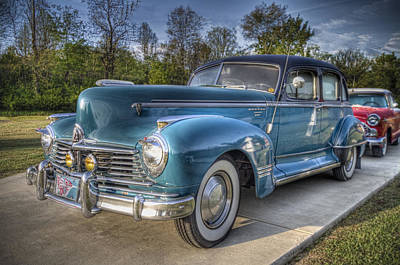 1947 Hudson Commodore Side View Poster by Debra and Dave Vanderlaan